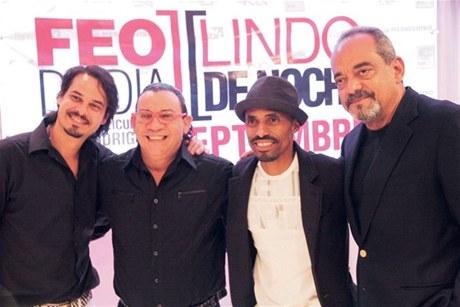 Frank Perozo, Kenny Grullón, Fausto Mata y Alfonso Rodríguez durante