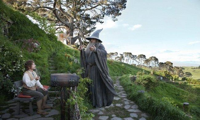 "Martin Freeman e Ian McKellen en ""The Hobbit: An Unexpected Journey""."