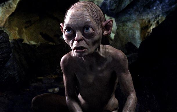 "Andy Serkis como Gollum en ""The Hobbit: An Unexpected Journey""."