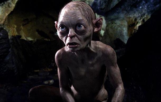 "Andy Serkis como Gollum en ""The Hobbit: An Unexpected Journey""."