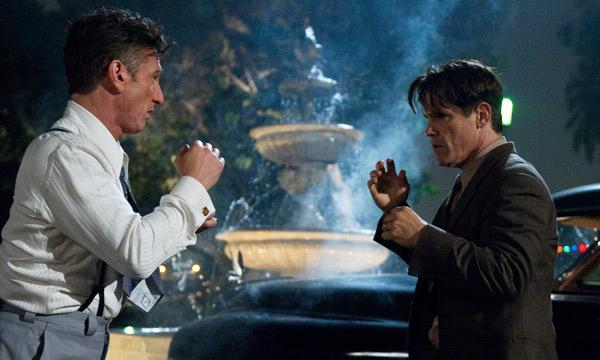 """Sean Penn y Josh Brolin en """"Gangster Squad""""."""