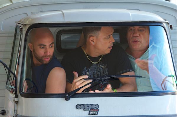 Irving Alberti, Alexis Valdés y Kenny Grullón en ''Arrobá''.