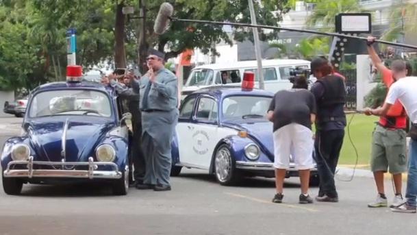 Grabación de una escena de ''Arrobá''.