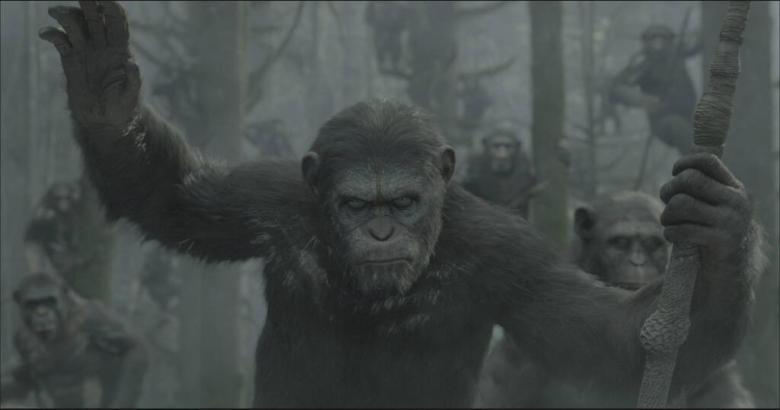 Escena ''Dawn of the Planet of the Apes''.