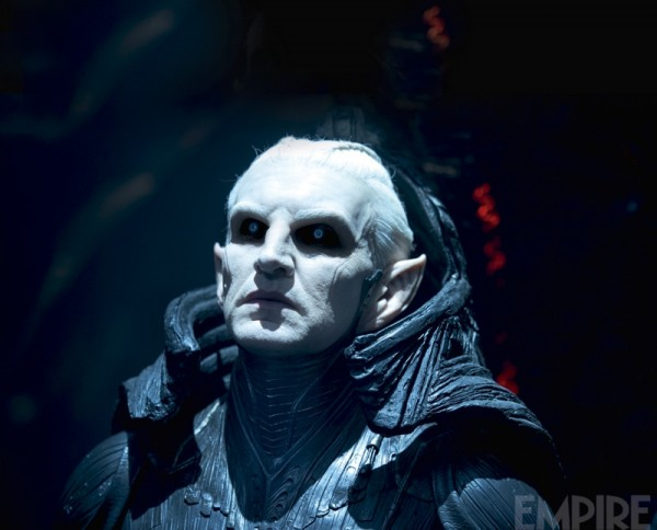 "Christopher Eccleston como Malekith en ""Thor: The Dark World""."