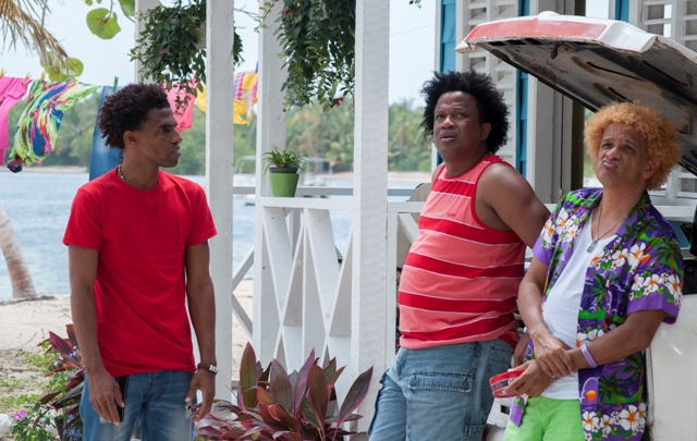 "Fausto Mata, Aquiles Correa y Tony Pascual en ""Sanky Panky 2""."