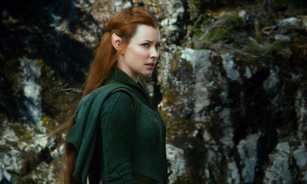 "Evangeline Lilly es Tauriel en ""The Hobbit: The Desolation of Smaug""."