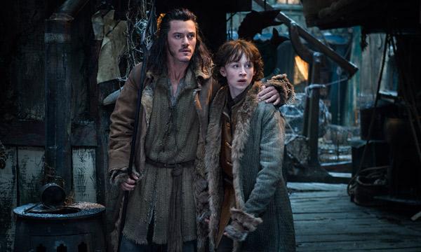 "Luke Evans y John Bell en ""The Hobbit: The Desolation of Smaug""."