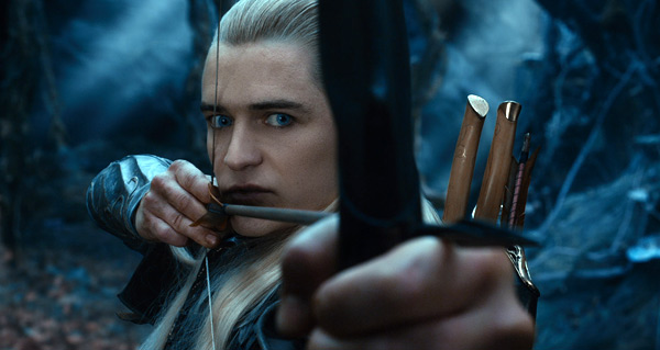 "Orlando Bloom es Legolas en ""The Hobbit: The Desolation of Smaug""."