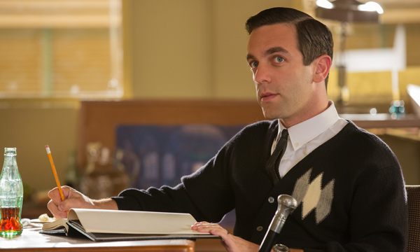 "B.J. Novak como Robert Sherman en ""Saving Mr. Banks""."