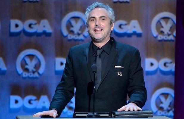 Alfonso Cuarón al recibir su premio en los SAG Awards 2014.