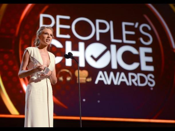 Taylor Swift en los People's Choice Awards 2014.