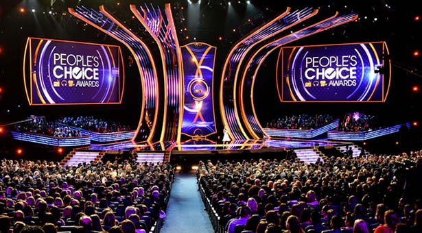 Escenario de la 40 entrega anual de los People's Choice Awards.