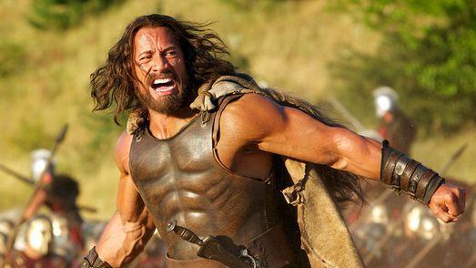 "Dwayne Jonson en ""Hercules""."