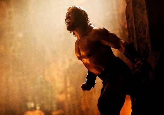 """Dwayne Johnson de """"Hercules""""."""