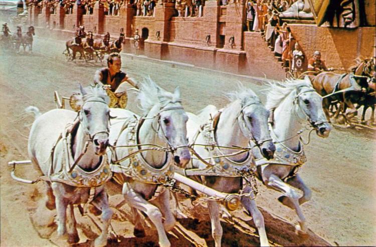 """Icónica escena de """"Ben-Hur""""."""