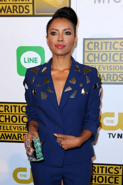 Kat Graham a su llegada a los Critic's Choice Awards 2014.