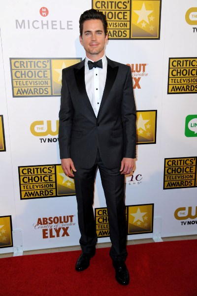 "Matt Bomer al llegar a los Critic's Choice Awards 2014. Estaba nominado por la miniserie ""The Normal Heart""."