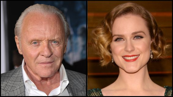 Anthony Hopkins y Evan Rachel Wood.