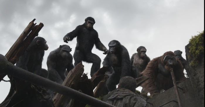 "Escena de ""Dawn of the Planet of the Apes"""