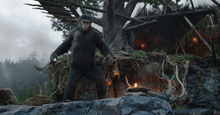 "Andy Serkis es Caesar en ""Dawn of the Planet of the Apes""."