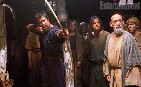 """Christian Bale y Ben Kingsley en """"Exodus: Kings and Gods""""."""