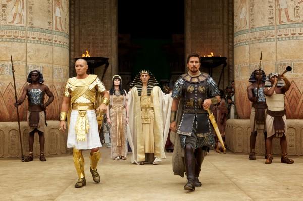 "Joel Edgerton y Christian Bale en ""Exodus: Gods and Kings""."