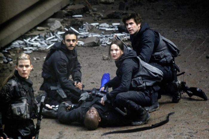 "Escena de ""The Hunger Games: Mockingjay - Part 1""."