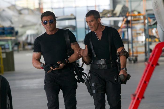 """Antonio Banderas y Antonio Banderas en """"The Expendables 3""""."""