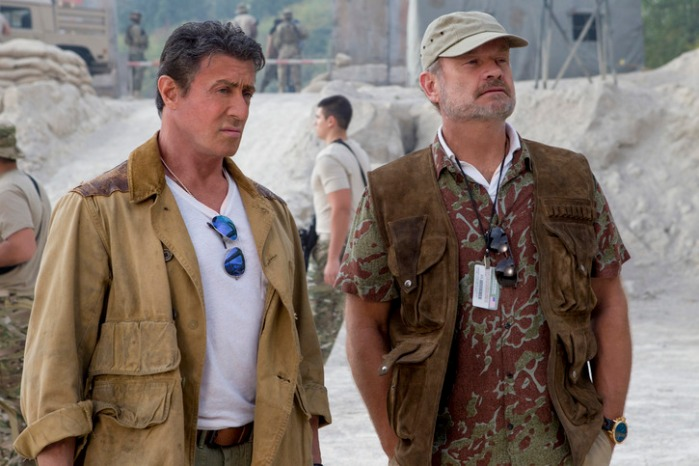 "Sylvester Stallone y Kelsey Grammer en ""The Expendables 3""."