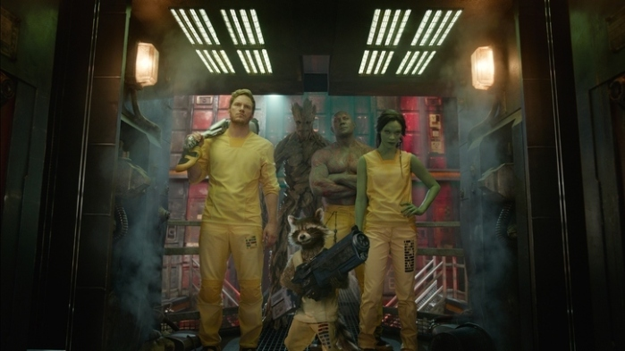 "Protagonistas de ""Guardians of the Galaxy""."