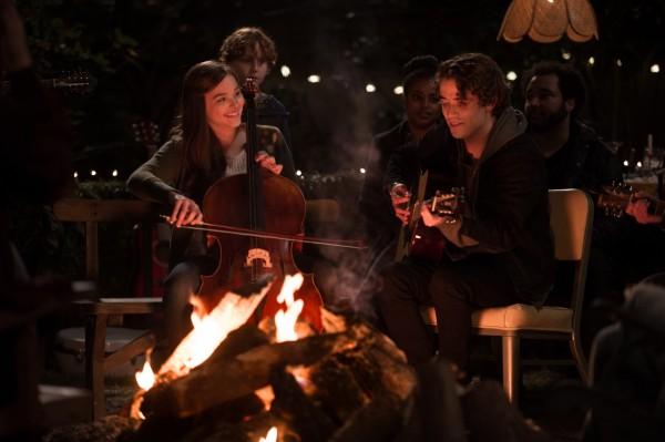 "Chloë Grace Moretz y Jamie Blackley en ""If I Stay""."