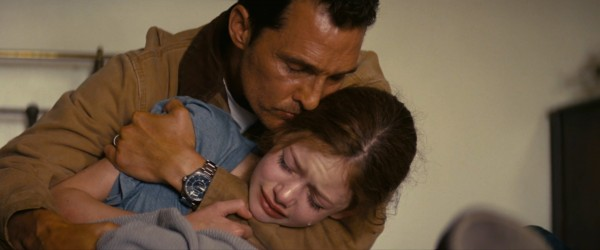 """Matthew McConaughey y Mackenzie Foy en """"Interstellar""""."""