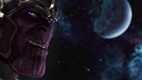 "Imagen de Thanos en la escena post-crédito de ""The Avengers""."