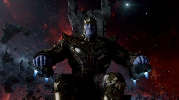 """Imagen de Thanos en la escena post-crédito de """"Guardians of the Galaxy""""."""