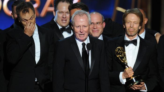 Equipo de producción del show The Amazing Race, ganador como mejor reality en los Emmy 2014.