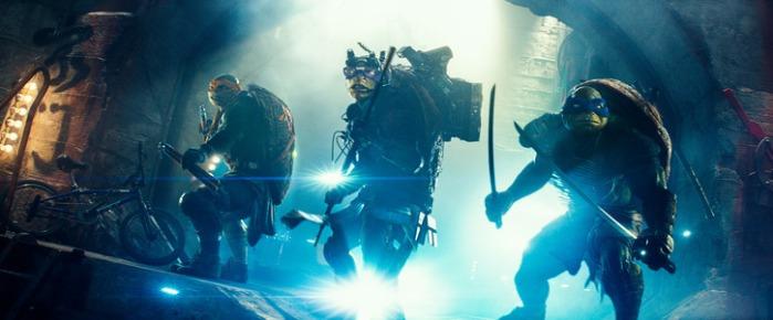 """Escena de """"Teenage Mutant Ninja Turtles"""" (2014)."""