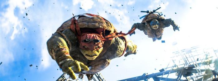 """Escena de """"Teenage Mutant Ninja Turtles""""."""