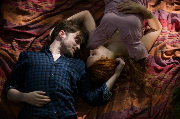 """Daniel Radcliffe y Juno Temple en """"Horns""""."""