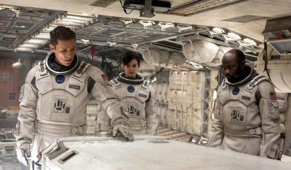 """Matthew McConaughey, Anne Hathaway y David Oyelowo en """"Interstellar""""."""
