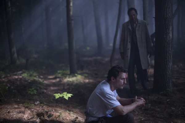 "Matthew McConaughey y Ken Watanabe en ""The Sea of Trees""."