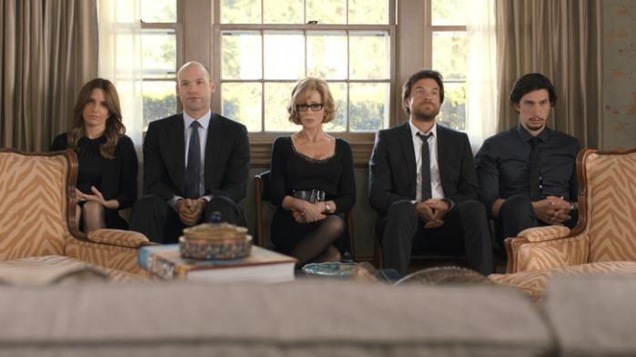 "Tina Fey, Corey Stoll, Jane Fonda, Adam Driver y Jason Bateman en ""This Is Where I Leave You""."