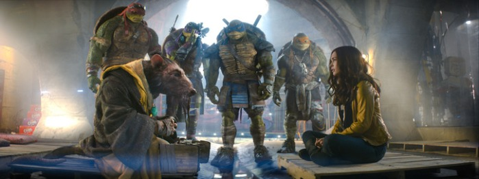 "Escena de ""Teenage Mutant Ninja Turtles""."