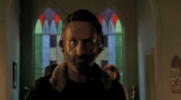 "Andrew Lincoln en la 5ta. temporada de ""The walking Dead""."