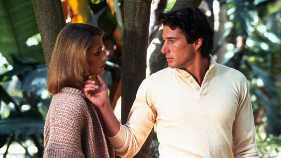 """Lauren Hutton y Richard Gere en """"American Gigolo"""" de 1980."""