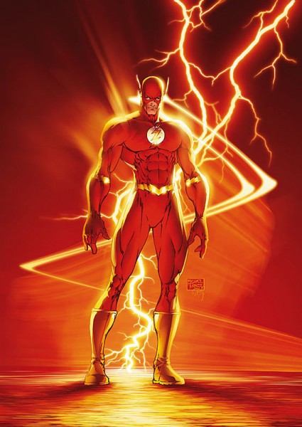 Imagen del superhéroe de DC Cómic Flash.