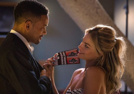 "Will Smith y Margot Robbie en ""Focus""."