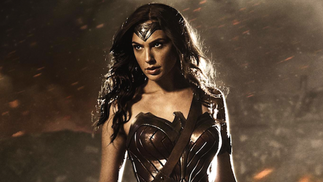 "Gal Gadot como Wonder Woman / Princess Diane en ""Batman v Superman: Dawn of Justice""."