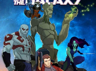 "Imágen del poster de la serie animada ""Guardians of the Galaxy""."