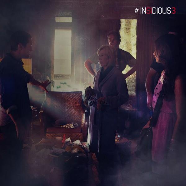 "Lin Shaye durante el rodaje de ""Insidious: Chapter 3""."
